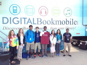 Awesome NCHS Students  touring the Overdrive Bookmobile!